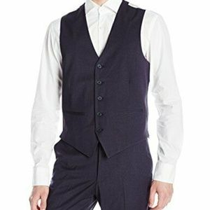 Arrow Men's Minibone Dress Vest Blue Small